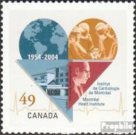 Kanada 2209 (kompl.Ausg.) Postfrisch 2004 Herz - 1952-.... Reinado De Elizabeth II