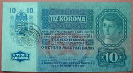 FIUME - RIJEKA 10 KRONEN ND 1918 (OLD DATE 1915), ITALY, CROATIA, AUSTRIA, HUNGARY, SEAL ON REVERSE, ORIGINAL SEAL, RARE - [ 6] Colonies