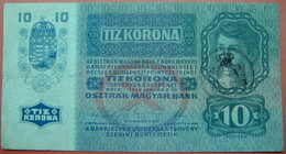 FIUME - RIJEKA 10 KRONEN ND 1918 (OLD DATE 1915), ITALY, CROATIA, AUSTRIA, HUNGARY, SEAL ON REVERSE, ORIGINAL SEAL, RARE - Unclassified