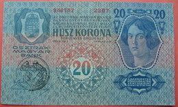FIUME - RIJEKA 20 KRONEN ND 1918 (OLD DATE 1913), ITALY, CROATIA, AUSTRIA, HUNGARY, SEAL ON REVERSE, ORIGINAL SEAL, RARE - Unclassified