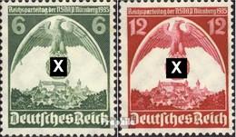 Deutsches Reich 586X-587X (kompl.Ausg.) Mit Falz 1935 Parteitag - Deutschland