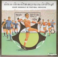 Laos Block109 (kompl.Ausg.) Postfrisch 1982 Fußball-WM 1986, Mexiko - Laos