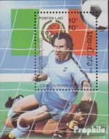 Laos Block106 (kompl.Ausg.) Postfrisch 1985 Fußball-WM '86 In Mexiko - Laos