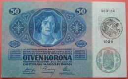 FIUME - RIJEKA 50 KRONEN ND 1918 (OLD DATE 1914), ITALY, CROATIA, AUSTRIA, HUNGARY, SEAL ON REVERSE, ORIGINAL SEAL, RARE - [ 6] Colonies