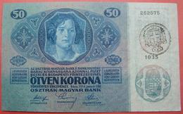 FIUME - RIJEKA 50 KRONEN ND 1918 (OLD DATE 1914), ITALY, CROATIA, AUSTRIA, HUNGARY, SEAL ON REVERSE, ORIGINAL SEAL, RARE - Unclassified