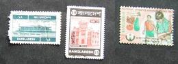 Bangladesh 3 Stamps Airport Curzon Hall And 1995 National Diabetes Awareness Day - Bangladesh