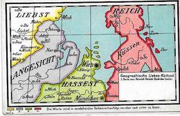 CPA Surréalisme Carte Maps Non Circulé Diable Krampus Lituanie Dos Non Séparé - Other Illustrators