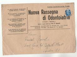 1934 ITALY Stamps COVER (Front ) DENTISTRY NOUVA RESSEGNA DI ODONTIATRIA  To GB Health Medicine Dental Magazine - Medicine