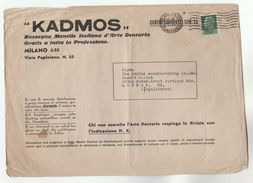 1934 ITALY Stamps ADVERT COVER KADMOS RESSEGNA MESNSILE D'ARTE DENTARIA Dentistry To GB Health Medicine Dental Magazine - 1900-44 Vittorio Emanuele III