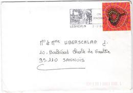 FRANCIA - France - 2000 - 3,00 F Yves Saint Laurent + Flamme Cité D'accueil - Seul - Viaggiata Da Lesneven Per Sannois - Francia