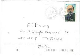 FRANCIA - France - 2003 - 0,46 € Emile Zola - Seul - Viaggiata Da Salon-de-Provence Per Torino, Italia - Francia