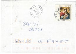 FRANCIA - France - 2003 - 0,46 € Croix Rouge - Giovanni Battista Salvi - Seul - Viaggiata Da Sahune Per Le Fayet - Francia
