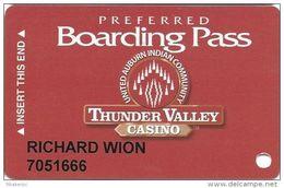 Thunder Valley Casino Lincoln CA - Slot Card @2004 Single Logo On Back - Casino Cards