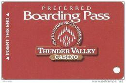 Thunder Valley Casino Lincoln CA - Blank Slot Card @2003 - Casino Cards