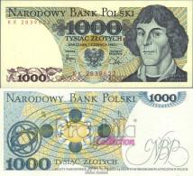 Polen 146c Bankfrisch 1982 1.000 Zlotych - Polen