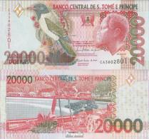 Sao Tome E Principe Pick-Nr: 67d Bankfrisch 2010 20.000 Dobras - Sao Tome And Principe