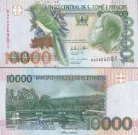 Sao Tome E Principe Pick-Nr: 66d Bankfrisch 2013 10.000 Dobras - Sao Tome And Principe