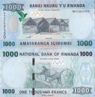 Ruanda Pick-Nr: 42 Bankfrisch 2015 1.000 Francs - Ruanda