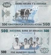 Ruanda Pick-Nr: 38 Bankfrisch 2013 500 Francs - Rwanda