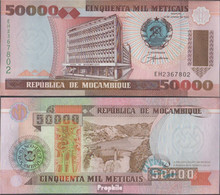Mosambik Pick-Nr: 138 Bankfrisch 1993 50.000 Meticais - Moçambique