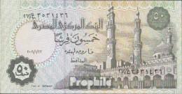 Ägypten Pick-Nr: 62, Signature 22 (22.1.2006) Bankfrisch 2006 50 Piastres - Aegypten