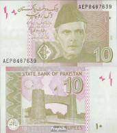 Pakistan Pick-Nr: 45j Bankfrisch 2015 10 Rupees - Pakistan