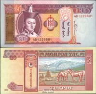 Mongolei Pick-Nr: 63b Bankfrisch 2002 20 Tugrik - Mongolia