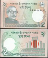 Bangladesch Pick-Nr: 52c Bankfrisch 2013 2 Taka - Bangladesch