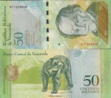 Venezuela Pick-Nr: 92e Bankfrisch 2011 50 Bolivares - Venezuela
