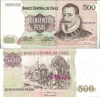 Chile Pick-Nr: 153e (1995) Bankfrisch 1995 500 Pesos - Chile