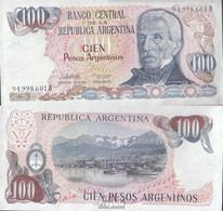 Argentinien Pick-Nr: 315a Bankfrisch 1983 100 Pesos Argentinos - Argentine