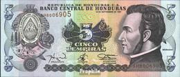 Honduras Pick-Nr: 81b Bankfrisch 1997 5 Lempiras - Honduras