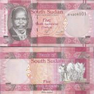 Süd-Sudan Pick-Nr: 6 Bankfrisch 2011 1 Pound - Soudan