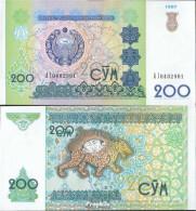 Usbekistan Pick-Nr: 80 Bankfrisch 1997 200 Sum - Usbekistan