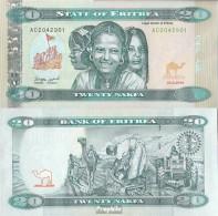 Eritrea Pick-Nr: 13 Bankfrisch 2012 20 Nakfa - Eritrea