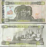 Eritrea Pick-Nr: 9 Bankfrisch 2011 50 Nakfa - Eritrea