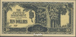 Malaysia Pick-Nr: M7c Gebraucht (III) 1944 10 Dollars - Malaysia