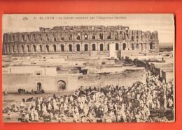 GAI-18 El Djem  Le Colisée Construit Par L'empereur Gordien. TRES ANIME. Circulé En 1931 - Tunisia