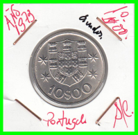 PORTUGAL  MONEDA DE  10  ESCUDOS  - AÑO 1973 - S/C - Portugal