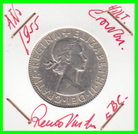 GRAN BRETAÑA  MONEDA DE HALF-CROWN - AÑO 1955 - 1/2 Sovereign