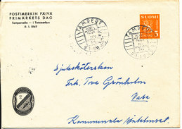 Finland Cover Stamp's Day Tampere 9-1-1949 - Finnland