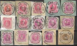 _6R-458:  Restje Van 15 Zegels Op Fragment:  Diverse: O.a.  Wat Stempels.... ..om Verder Uit Te Zoeken.. - 1922-1927 Houyoux