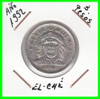 CUBA   MONEDA DE  3 PESOS  - AÑO 1992 CHÉ GUEVARA - Cuba