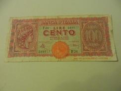 ITALY - ITALIA BANKNOTE 100 LIRE F26 - 100 Lire