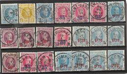 _6R-452:  Restje Van 21 Zegels .. Diverse: O.a.  Wat Stempels.... ..om Verder Uit Te Zoeken.. - 1922-1927 Houyoux