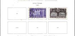 Lussemburgo PO 1951 Europa Unita Scott.273+274+See Scans - Lussemburgo