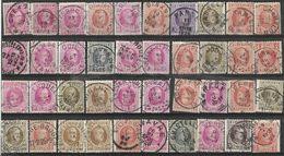 _6R-449:  Restje Van 40 Zegels .. Diverse: O.a.  Wat Stempels.... ..om Verder Uit Te Zoeken.. - 1922-1927 Houyoux
