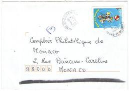 FRANCIA - France - 2003 - 0,46 € Fête Du Timbre + FD, Fausse Direction - Seul - Viaggiata Da Égreville Per Monaco - Storia Postale