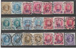 _6R-448:  Restje Van 21 Zegels .. Diverse: O.a.  Wat Stempels.... ..om Verder Uit Te Zoeken.. - 1922-1927 Houyoux