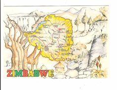 ZIMBABWE - CARTE ET ANIMAUX - Zimbabwe